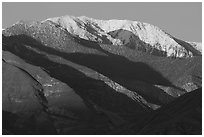 Telescope Peak at sunset. Death Valley National Park, California, USA. (black and white)