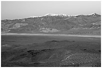Panamint Valley and Panamint Range, dusk. Death Valley National Park ( black and white)