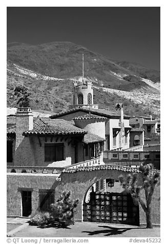 Scotty's Castle. Death Valley National Park (black and white)