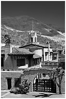 Scotty's Castle. Death Valley National Park, California, USA. (black and white)