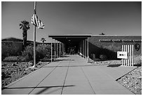 Furnace Creek Visitor Center. Death Valley National Park ( black and white)