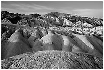 Twenty Mule Team Canyon badlands. Death Valley National Park ( black and white)