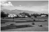 Furnace Creek Campground. Death Valley National Park ( black and white)