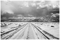 West Side Road. Death Valley National Park ( black and white)
