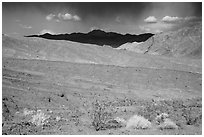 Black Mountains near Jubilee Pass. Death Valley National Park ( black and white)