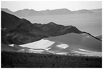 Ibex Dunes, mountains and valleys. Death Valley National Park ( black and white)