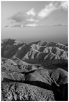 Keys view, sunset. Joshua Tree National Park ( black and white)