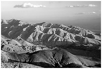 Keys view, sunset. Joshua Tree National Park, California, USA. (black and white)