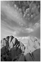 Rocks and clouds. Joshua Tree National Park ( black and white)