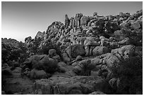 Dusk, Hidden Valley. Joshua Tree National Park ( black and white)