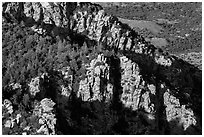 Cliffs, Rincon mountains. Saguaro National Park ( black and white)