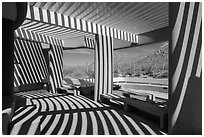 Red Hills Visitor Center patio and shadows. Saguaro National Park ( black and white)
