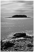 Rolling Island, Schoodic Peninsula. Acadia National Park ( black and white)