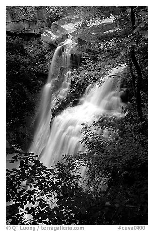 Brandywine falls. Cuyahoga Valley National Park (black and white)
