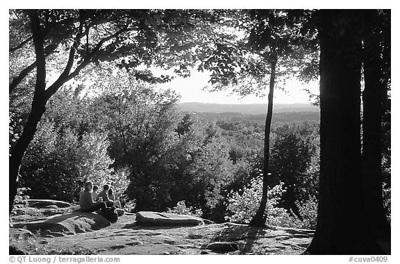 Ledges overlook. Cuyahoga Valley National Park (black and white)