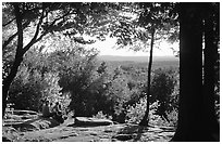 Ledges overlook. Cuyahoga Valley National Park, Ohio, USA. (black and white)