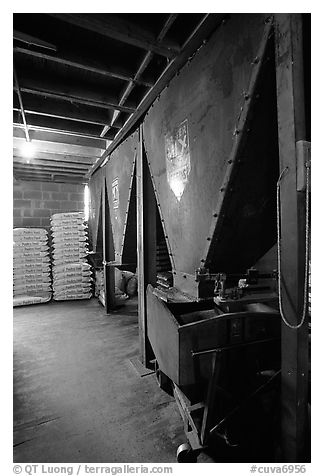 Grain distributor in Wilson feed mill. Cuyahoga Valley National Park (black and white)