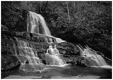 Laurel Falls, Tennessee. Great Smoky Mountains National Park ( black and white)