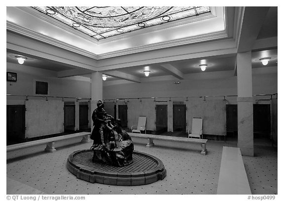 Mens bath hall, Fordyce bathhouse. Hot Springs National Park (black and white)