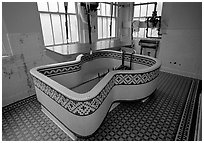 Tile-covered tub, Fordyce bathhouse. Hot Springs National Park ( black and white)