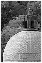 Dome of Quapaw Baths. Hot Springs National Park, Arkansas, USA. (black and white)
