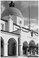 Quapaw Bathhouse. Hot Springs National Park ( black and white)