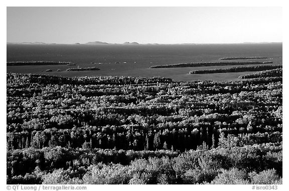 View from Mount Franklin. Isle Royale National Park (black and white)