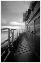 Ferry battered by a severe storm. Isle Royale National Park ( black and white)