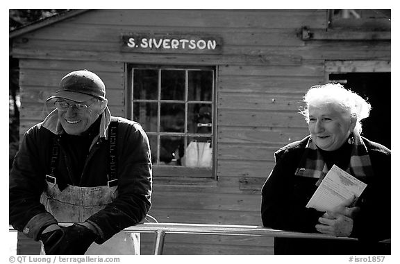 Members of the Silvertson family have been running the only commercial fishing operation in the Park for decades. Isle Royale National Park (black and white)
