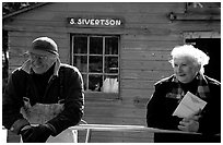Members of the Silvertson family have been running the only commercial fishing operation in the Park for decades. Isle Royale National Park, Michigan, USA. (black and white)