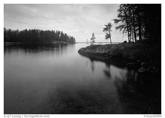 Windmill rock cove. Voyageurs National Park (black and white)