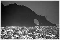 Sea arch, Santa Cruz Island. Channel Islands National Park ( black and white)