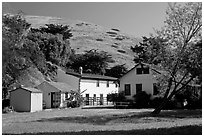 Historic Scorpion Ranch, Santa Cruz Island. Channel Islands National Park, California, USA. (black and white)