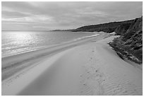 Dunes and sunlight, Water Canyon Beach, Santa Rosa Island. Channel Islands National Park ( black and white)