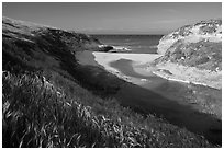 Mouth of Lobo Canyon, Santa Rosa Island. Channel Islands National Park ( black and white)
