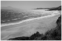 Water Canyon Beach, Santa Cruz Island, and Skunk Point, Santa Rosa Island. Channel Islands National Park ( black and white)