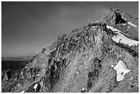 The Watchman. Crater Lake National Park, Oregon, USA. (black and white)