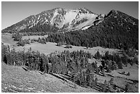 Mount Scott from the base. Crater Lake National Park ( black and white)
