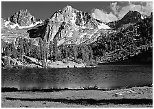 Rae Lake and Painted Lady. Kings Canyon National Park ( black and white)