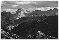 Sierra Nevada crest. Kings Canyon National Park ( black and white)