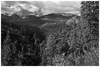 Kennedy Mountain above Lewis Creek. Kings Canyon National Park ( black and white)