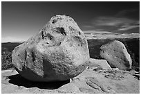 Glacial erratics, Buena Vista. Kings Canyon National Park, California, USA. (black and white)