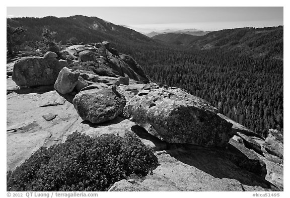 Redwood Canyon seen from Buena Vista. Kings Canyon National Park (black and white)