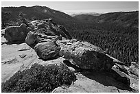 Redwood Canyon seen from Buena Vista. Kings Canyon National Park, California, USA. (black and white)