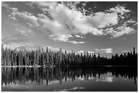 Summit Lake. Lassen Volcanic National Park ( black and white)