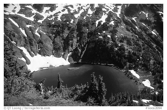 Doubtful Lake, North Cascades National Park.  (black and white)