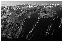 Picket range in the distance, North Cascades National Park.  ( black and white)