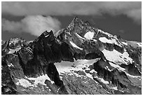 Forbidden Peak, North Cascades National Park.  ( black and white)