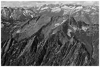 View towards the Pickets, North Cascades National Park.  ( black and white)