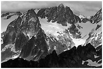 Early Morning Spires, North Cascades National Park.  ( black and white)